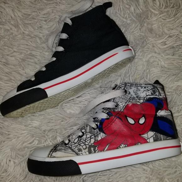 NWT Disney store Boy Shoes Spiderman Rain Boots Marvel Avengers Many sizes